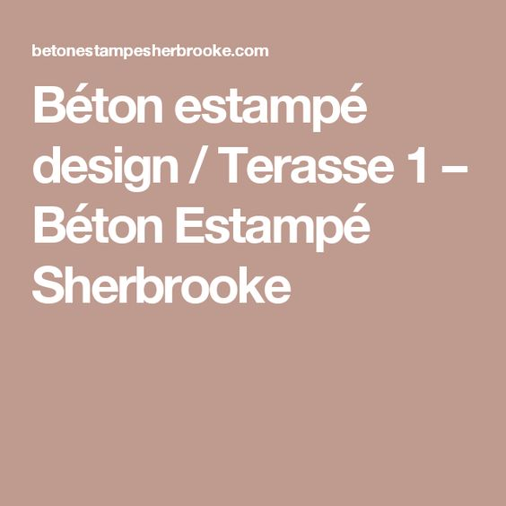 Béton estampé design / Terasse 1 – Béton Estampé Sherbrooke