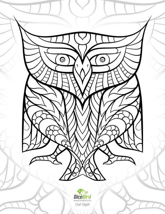 stress relieving coloring pages owls - photo#7