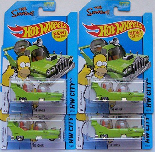 2014 Hot Wheels The Simpsons Hw City - The Homer - Lot of 4! @ niftywarehouse.com