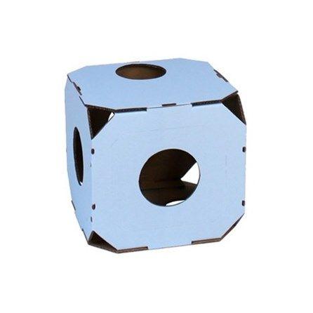 Caixa Modular Azul Catty Stacks - Meuamigopet.com.br #cat #cats #gato #gatinho #bigode #muamigopet