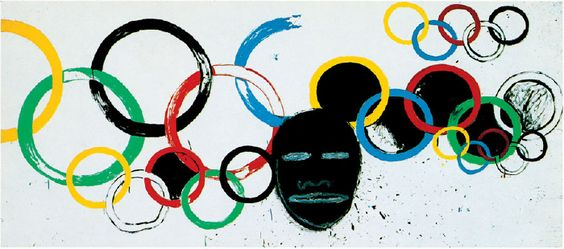 """Pretty & relevant - JEAN-MICHEL BASQUIAT & ANDY WARHOL """"Olympic Rings"""" 1985"""