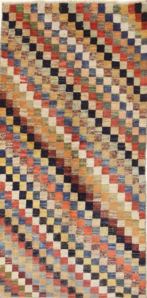 Wunderschöner Perser Teppich Gabbeh Handgeknüpfte alfombra oriental 248 x 125 cm