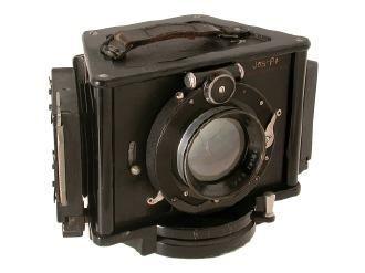 Jos-Pe Tri-Color Camera  4.5x6cm, very rare German all-metal camera for single-shot 3-color separation negatives, Quinar 2.5/10.5cm