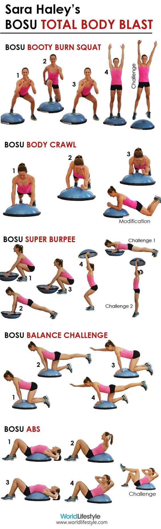 Sara Haley's BOSU Total Body Blast Workout - 5 fierce calorie-burning BOSU moves