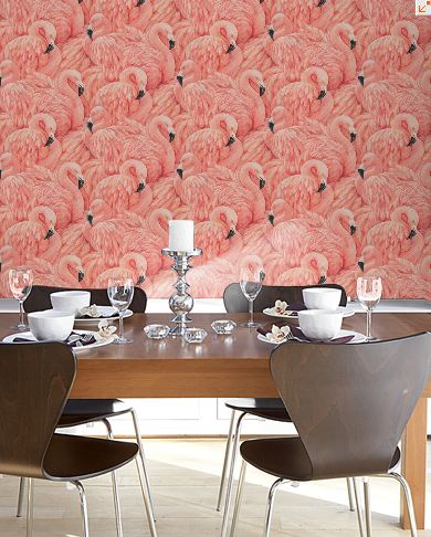 flamingo wallpaper home obsession troppop preems. Black Bedroom Furniture Sets. Home Design Ideas
