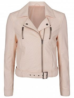 French Connection Albany Biker Jacket, Mid Brule £95 #Spring #Essentials #Fashion #BikerJacket #Pastel