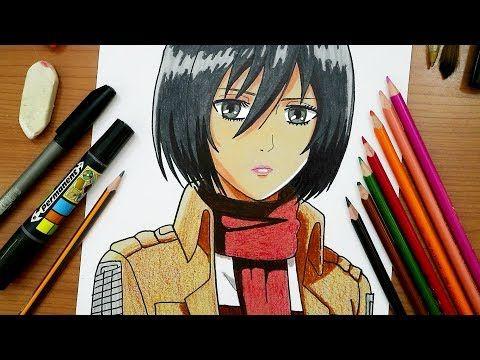 رسم ميكاسا من انمي هجوم العمالقة Drawing Mikasa Attack On Titan Youtube Art Anime Youtube