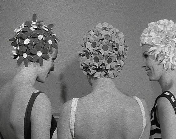 Floral Vintage Bathing Caps