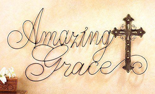 Amazing Grace Metal Cross Wall Art Collections Etc http://www.amazon.com/dp/B00RHE6G46/ref=cm_sw_r_pi_dp_3m.Hwb1E1B232