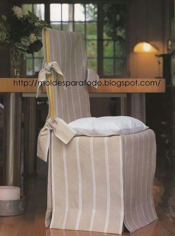 Fundas para sillas molde fundas p silla pinterest - Fundas para muebles ...