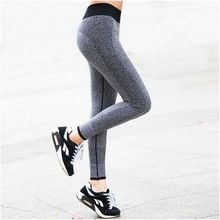 2016 Nouvelles Femmes de sport pantalon Élastique Leggings Musculation Remise En Forme de Vêtements De Yoga taille haute pantalon S-XL 4 Couleurs(China (Mainland))