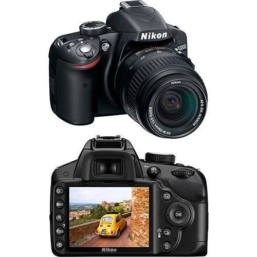 Câmera Digital DSLR Nikon D3200 24.2MP Lente EF-S 18-55mm F/3.5-5.6 Is