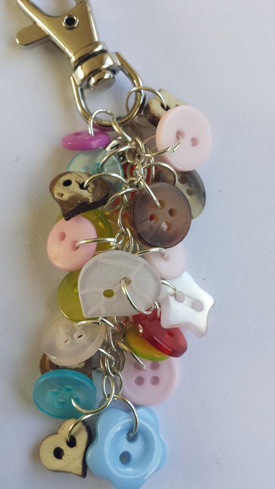 Buttons Bag Charm or Keyring