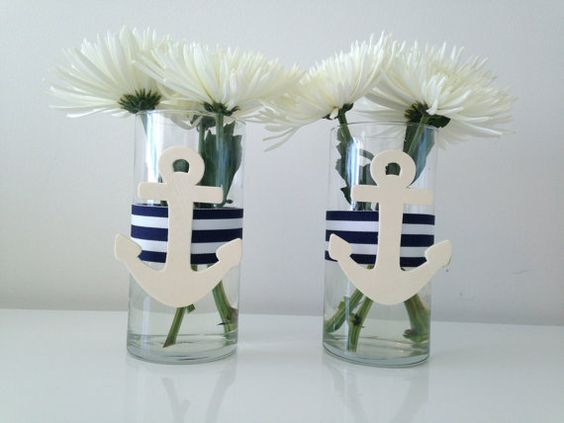 Nautical centerpiece glass vase units pinterest