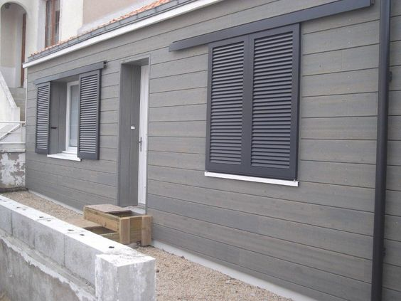 Bardage avec volet coulissant bardage pinterest stables extensions and - Volet exterieur coulissant ...
