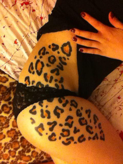 Leopard print tattoo in love :)