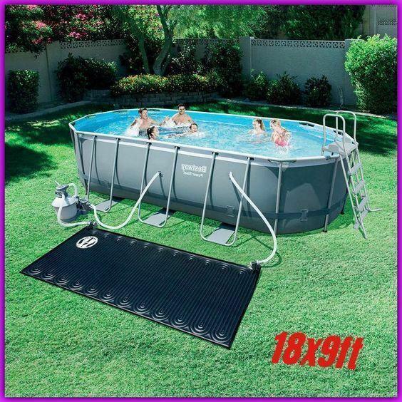 Big Oval Pool Kit Above Ground Patio Steel Sand Filter Pump Solar Pad Cover 18x9 Pool Pool Kits Oval Pool