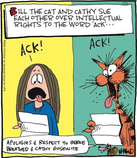 Bob the Cat AND Cathy find their way into Reality Check! | GoComics.com #humor #comics