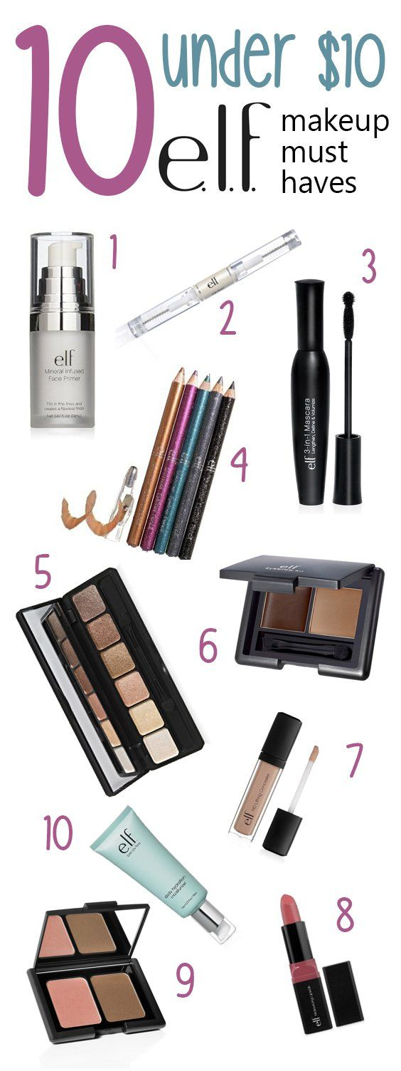 Makeup Must Haves For Beginners: 10 Under $10: E.l.f. Makeup Must Haves