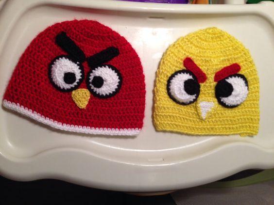 Angry birds crochet hat von SISTERSMARKET auf Etsy