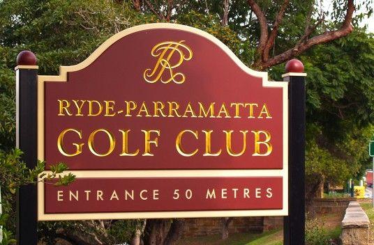 Ryde Parramatta Golf Club Sign / Danthonia Designs