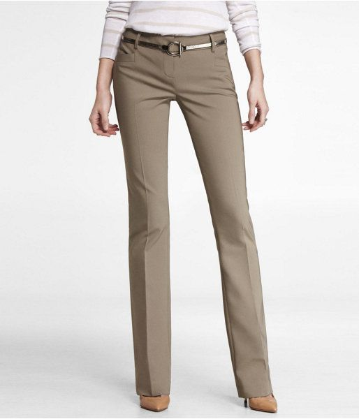 Express Womens Ultimate Double Weave Wide Welt Columnist Pant River