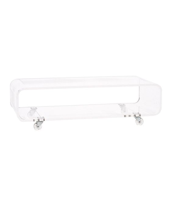 Clear Rolling Coffee Table