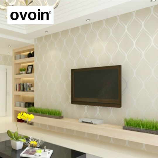 Beige White Grey Luxury Modern Wallpaper For Bedroom Walls