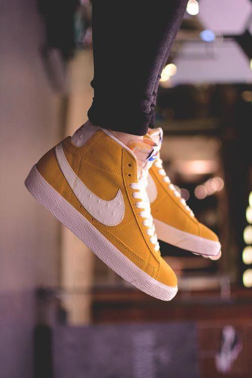 Nike Blazer Mid Premium VNTG yellow #WomenFashionClothes ...