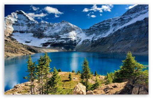 Download Nature Mountain Landscape Blue Lake Hd Wallpaper Yoho