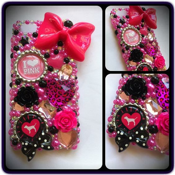 Victoria's Secret PINK iPhone 5 bling case by sparklingskye, $35.00