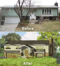Split entry exterior remodel for the home pinterest for Raised ranch entryway remodel