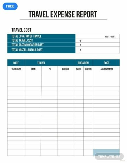 Travel Expense Report Template Free Pdf Google Docs Word Template Net Report Template Templates Gift Tag Template Printable