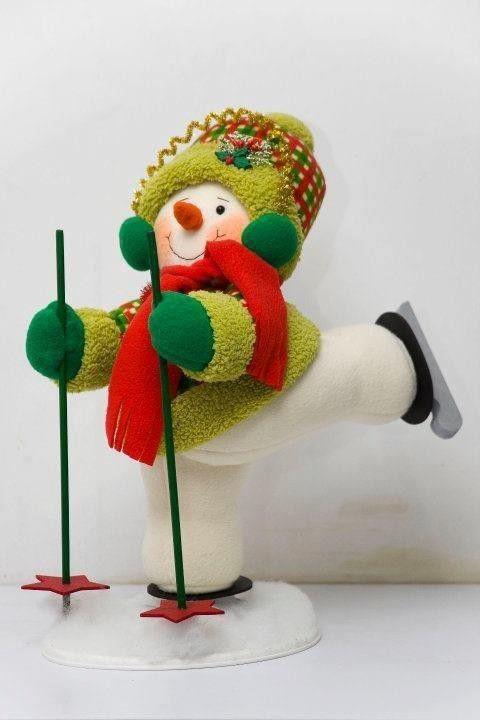 Moldes de este lindo y divertido mu eco de nieve esquiador - Como hacer un muneco ...