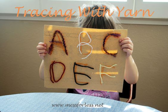 Mess For Less: Tracing With Yarn
