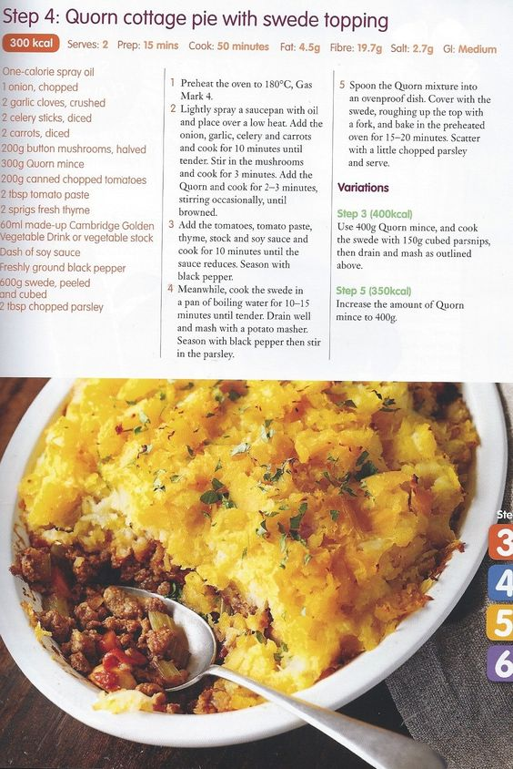 Quorn Cottage Pie And Swede Topping Step 4 Recipes 200 Calorie Meals Cooking Recipes