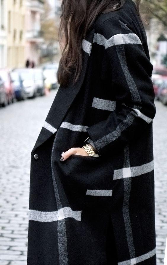 check black coat via Not Your Standard