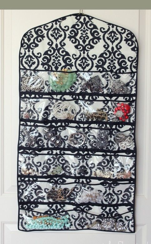 Tutorial Hanging Jewellery Organiser cos bag Pinterest