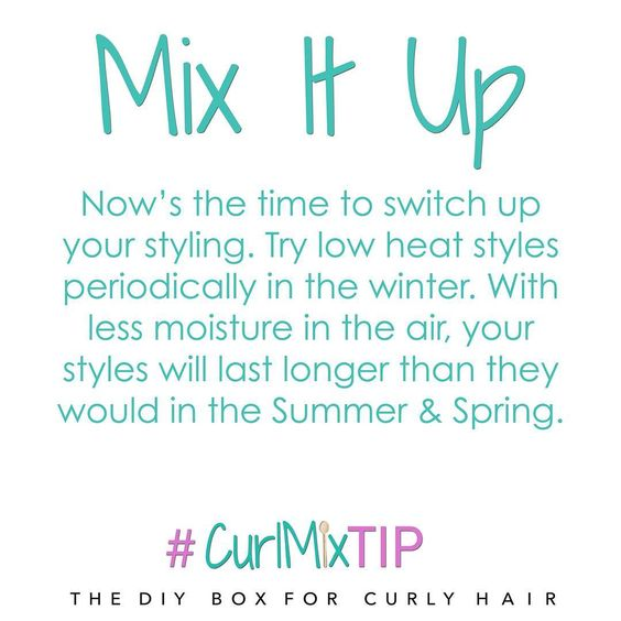 We're all about Mixing Things Up! Try a sleek straight style in the colder months for a different look. #CurlMixTip #CurlMix #NaturalHair #Naturalista #CurlyHair #CoilyHair #straighthair