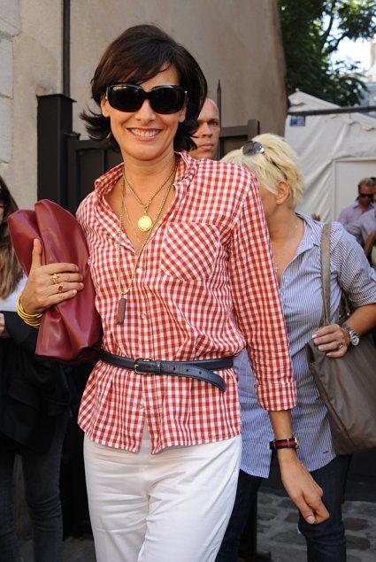 Qui sont les stars rep r es la fashion week de paris dress shirts belt and de paris - Mari d ines de la fressange ...