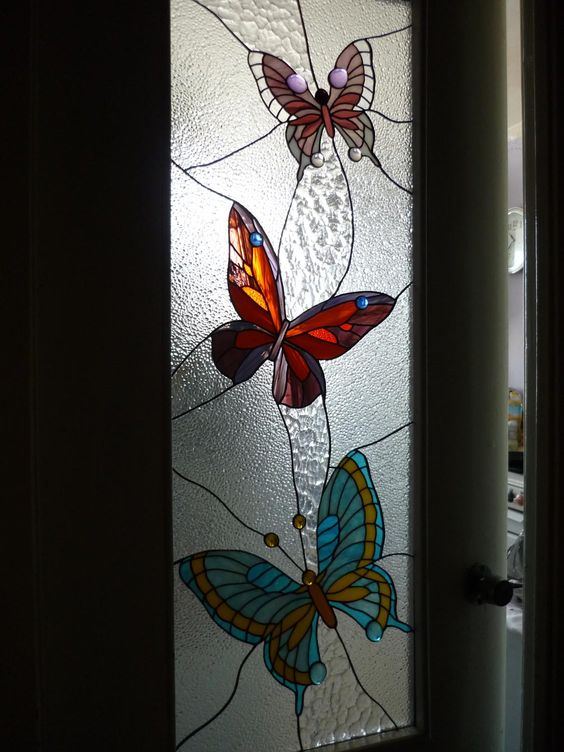 stained glass butterflies:
