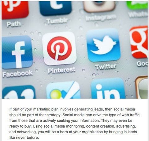 Use these tips and brand examples to increase lead generation from Facebook, Twitter, LinkedIn, YouTube, Instagram and Pinterest.