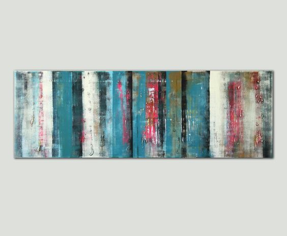 Neon covered with Blue pannels  Acrylic Modern Art by RonaldHunter, $439.00