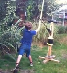 Sword-fighting martial arts practice dummy that fights back!  *****Note, maybe without the 'fighting back' part, lol