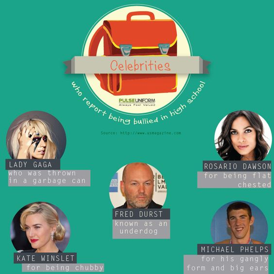 Some celebrities were bullied too! #bullying #BullyNoMore