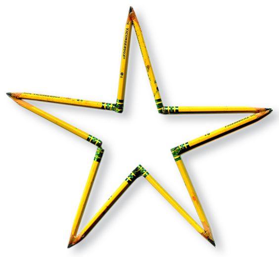 http://www.artprojectsforkids.org/2012/12/pencil-stars.html?m=1