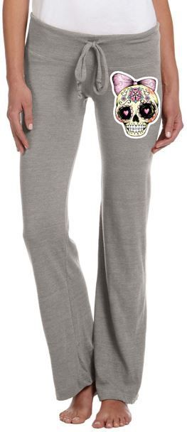 Gray Sugar Skull Sweatpants - FTGS