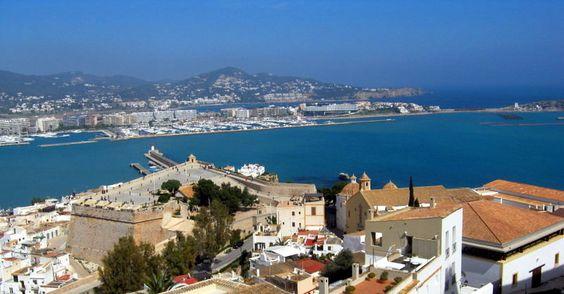 Vista da Fortaleza de Ibiza.