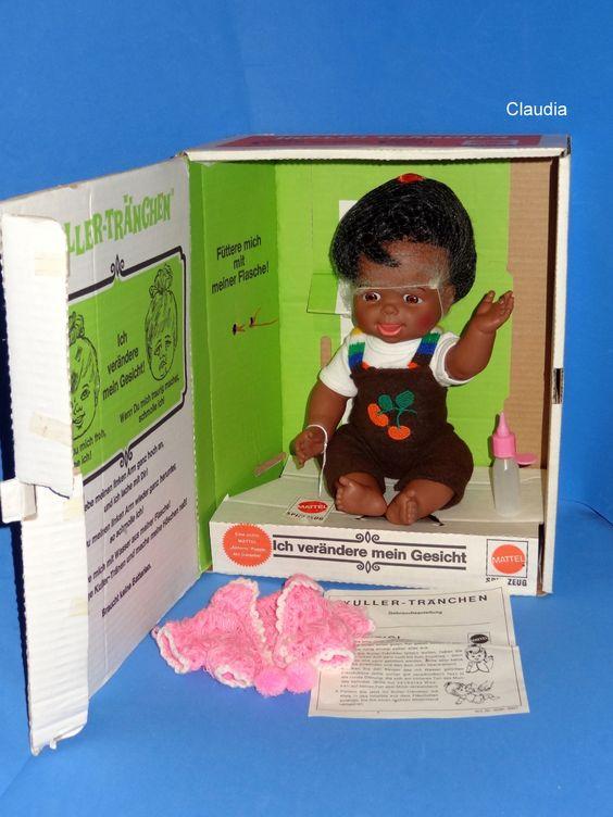 "Vintage Mattel Cheerful Tearful 13"" Doll German Kuller Tränchen African American   eBay"