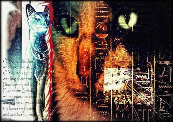 Egyptian Goddess Bastet Cat Collage